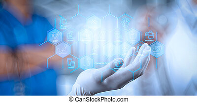 réseau, nouvel ordinateur, fonctionnement, exposition, moderne, social, homme affaires