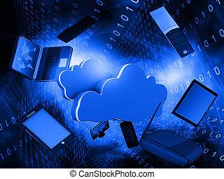 réseau, nuage, calculer