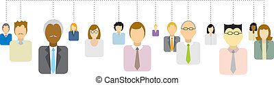 réseau, professionnels, /, connexions, social
