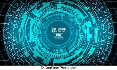 réseau, résumé, technologique, salut, futuriste, fond, numérique, sécurité, design., vitesse, toile de fond, vector.