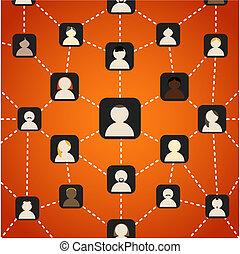 réseau, social, plan