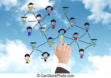 réseau, structure, social