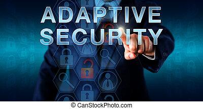 réseau, surveillant, toucher, adaptatif, sécurité