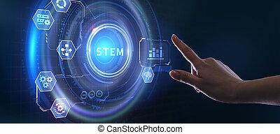 réseau, technologie, internet, science, math., tige, business, ingénierie, concept.