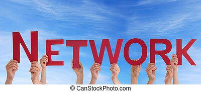 réseau, tenue, gens