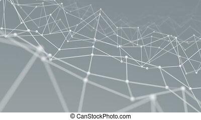 réseau, wireframe, vibrer, forme, fond, boucle