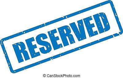 réservé, bleu, timbre, encre