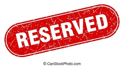réservé, grunge, étiquette, stamp., rouges, signe.