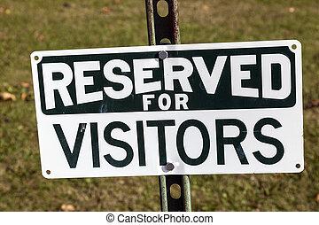 réservé, visiteurs