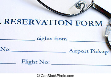 réservation, hôtel, formulaire