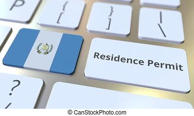 résidence, drapeau, animation, permis, texte, 3d,...