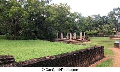 résidence, vieux, restes, sri, anuradhapura, lanka