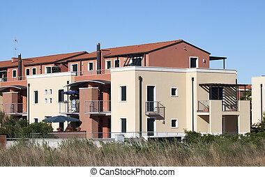 résidentiel, bâtiment