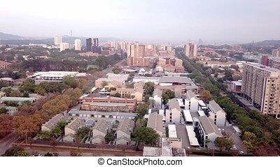 résidentiel, banlieues, pretoria, sud, horizon, afrique,...
