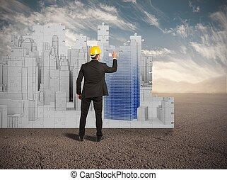résidentiel, désert, secteurs