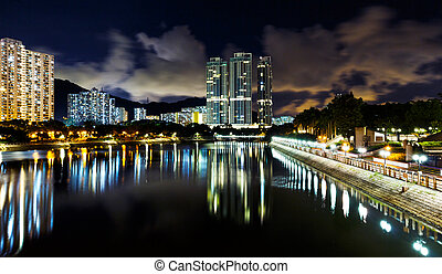 résidentiel, hong, district, kong