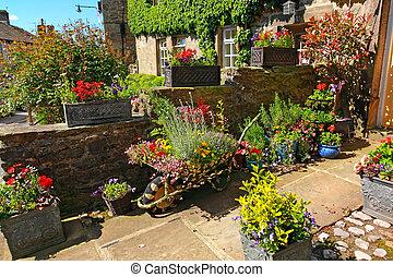 résidentiel, jardin, landscaping