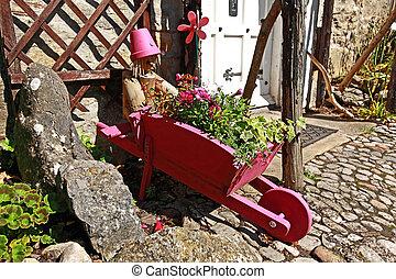 résidentiel, original, jardin, landscaping