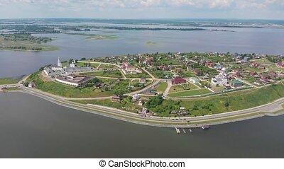 résidentiel, town-island, placé, complexe, -, plusieurs, ...