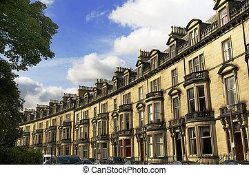résidentiel, upmarket, ecosse, edimbourg, logement