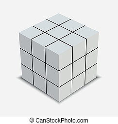 résolu, puzzle, cube