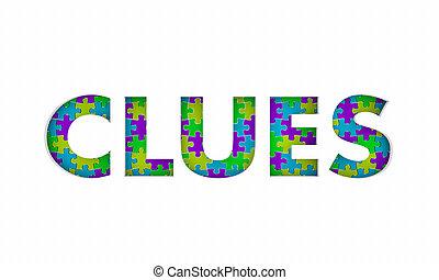 résolu, solution, puzzle, illustration, mystère, indices, 3d