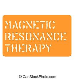 résonance, magnétique, signe