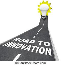résoudre, -, créatif, innovation, sentier, problème, route