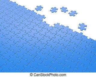 résoudre, groupe, business, problems., trouver, puzzles, illustration:, partie, correct, 3d