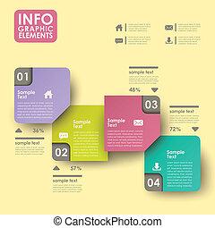 résumé, étiquette, infographics
