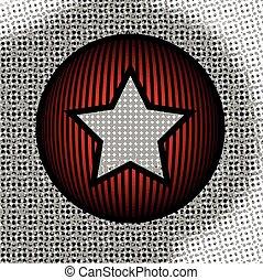 résumé, étoile, cercle, fond
