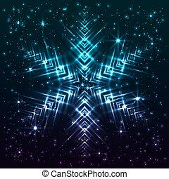 résumé, étoile, flocon de neige, briller