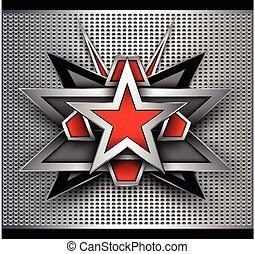 résumé, étoile, fond, 3d