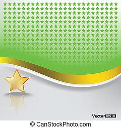 résumé, étoile, fond, or