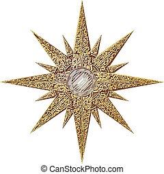 résumé, étoile, or, illustration