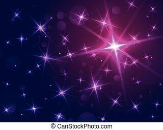 résumé, étoiles, bokeh, fond