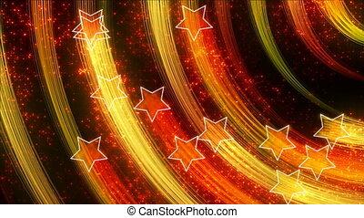 résumé, étoiles, dos, loopable, disco