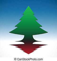 résumé, 3d, ciel, noël, bleu, arbre, eps10, arrière-plan.