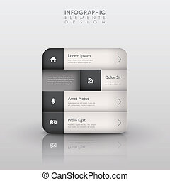 résumé, 3d, interface, infographics