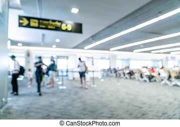 résumé, aéroport, fond, barbouillage