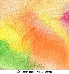 résumé, acrylique, et, aquarelle, peint, background.paper, texture