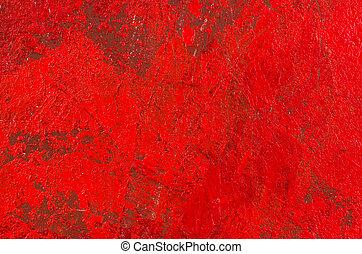 résumé, acrylique, fond, rouges