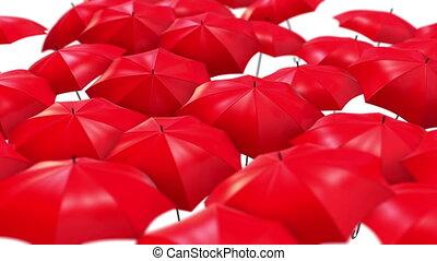 résumé, air, essor, boucle, fond, parapluies
