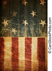 résumé, américain, patriotique, fond, (based, sur, drapeau, theme)