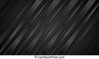 résumé, animation, lignes, constitué, bronze, raies, vidéo, noir