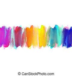 résumé, aquarelle, main, peint, fond