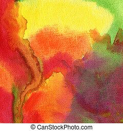 résumé, aquarelle, peint, fond