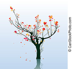 résumé, arbre, érable