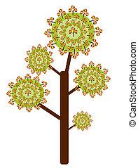 résumé, arbre, automne