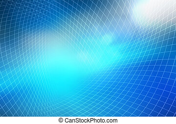 résumé, arrière-plan bleu, fond, technologie